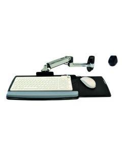 Ergotron LX, väggfäste med arm för tangentbord och mus, 3 leder, si
