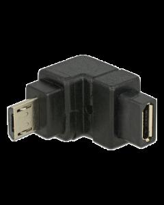 DeLOCK USB Typ Micro-B hane till Micro -B hona adapter,nedåt, svart