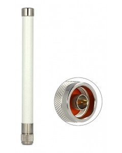 DeLOCK WLAN antenn med dubbelriktat utomhusfäste, N hane, 4,5-7,0 dBi