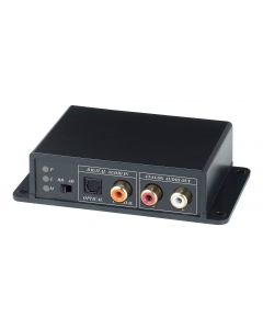 Dubbelriktad digital-analog ljudomvandlare, Toslink, Coax, RCA, svart