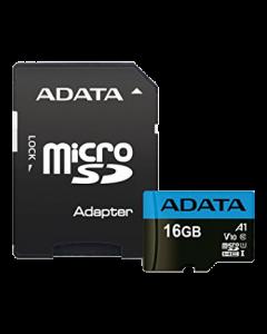 ADATA 16GB MicroSD UHS-I Class 10 A1 w/SD Adapter