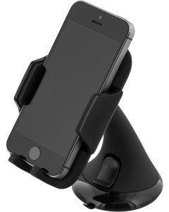 DELTACO Hållare för smartphone, justerbart fäste med sugpropp, svar