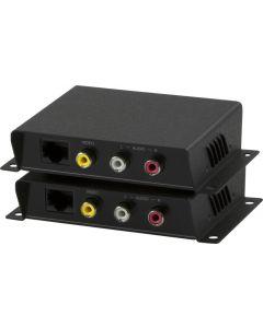 Signalförstärkare, Kompositvideo och ljud(RCA), Cat5, 600 m