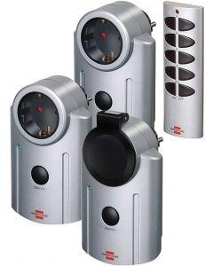Brennenstuhl fjärrstyrd strömbrytare, CEE 7/4-uttag, 25m, fjärr, 3-