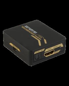 HDMI - HDMI +SPDIF/3,5mm omvandlare, Ultra HD 30Hz, 5.1/2.1, svart