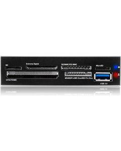 ICY BOX USB 3.0 minneskortläsare, intern, USB 3.0-port, svart