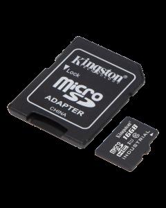 Kingston 16GB microSDHC UHS-I Class 10 Industrial Temp Card + SD Adapt