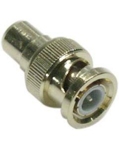 DELTACO Adapter RCA ho till BNC ha, guldpläterad