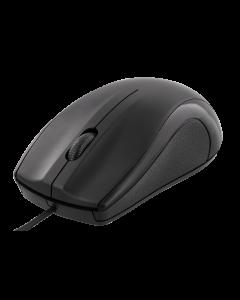 DELTACO trådad optisk mus, 3 knappar med scroll, 1200 DPI, svart