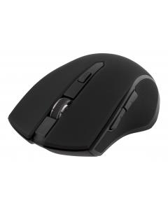 DELTACO trådlös optisk mus, 5 knappar med scroll, 1600 DPI, USB, svart