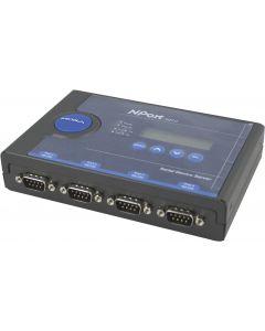Moxa serieports server, 4xRS-232 med LCD-display