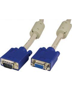 DELTACO Förlängningskabel RGB HD15ha-ho 15m Pin-Pin, utan pin9