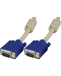 DELTACO monitorkabel RGB HD15ha-ha 5m, Pin-Pin, utan pin 9