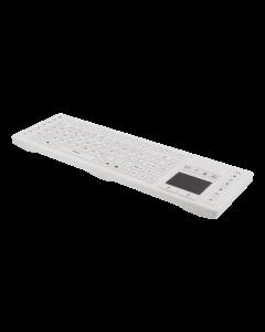 DELTACO trådlösa tangentbord i silikon med touchpad, IP68, vit