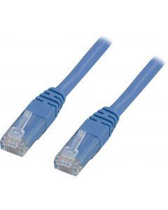 DELTACO U/UTP Cat6 patchkabel 7m, blå