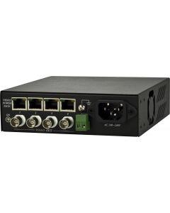 Mottagare för signalförstärkning, 4xBNC-video, 12V, RS-485, Cat5, 3