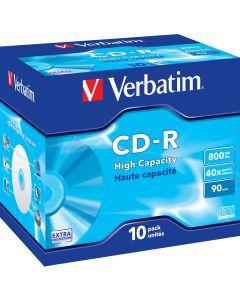 Verbatim CD-R, 40x, 800 MB/90 min, 10-pack, jewel case