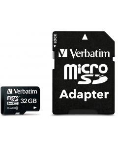 Verbatim microSDHC, 32GB,  Class 10, inkl adapter
