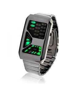 Grön Futuristisk LED klocka