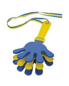 Handklappa blå/gul