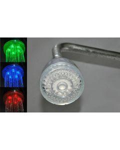 LED Duschmunstycke, temperaturstyrd - Drivs utan batterier