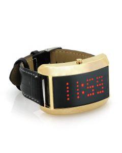 LED Klocka med rullande textmeddelande