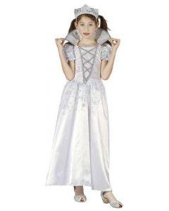 Maskeraddräkt Kid Princess White Stl 110-116