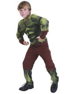 Maskeraddräkt Kid Green Monster Stl 122-130