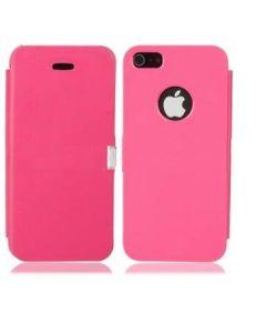Rosa läderfodral till iPhone 5