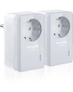 TP-LINK AV500 Powerline Adapter med AC Pass Through Starter Kit, två enh