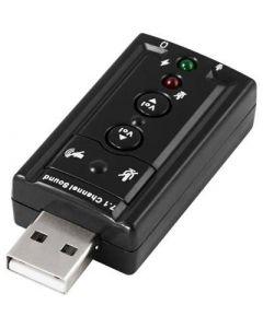 USB-ljudkort med anslutning för hörlurar och mikrofon