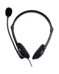 Verbatim headset, 32 Ohm, 3,5mm, 2m kabel, svart