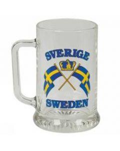 Ölsejdel med Sverige flaggor