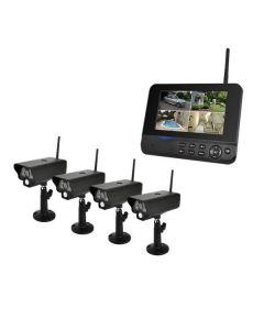 Övervakningspaket, 4st Trådlösa kameror & 7