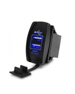 Vattentät dubbel USB-laddare för båtar och fordon