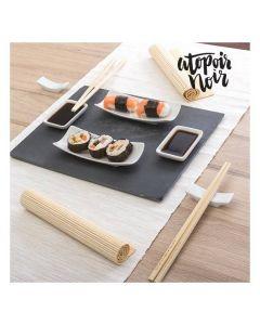 Sushiset med bricka i skiffer (11 delar) - Fyndvara