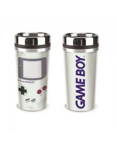 Resemugg/kaffemugg med lock, Game Boy-tryck