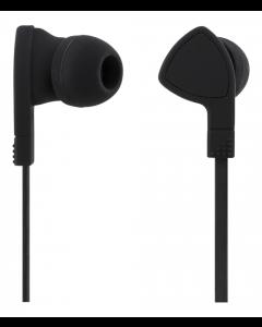STREETZ in-ear hörlurar med mikrofon, 3,5mm, mediaknapp, 1,2m trasselfri kabel - Svart