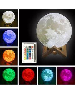 LED månglob, 16 färger, fjärrkontroll, uppladdningsbar