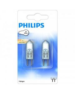 Philips G4 Halogenlampa, 10W, 100LM, 2-pack