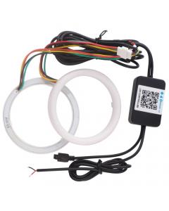 LED lykta Halo-ring Angel Eyes, 2 st, 6W, Bluetooth, Fjärrkontroll, RGB