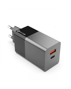 USB-C & USB Väggladdare, Väggadapter, 65W, Quick Charge, PD 3.0, PPS