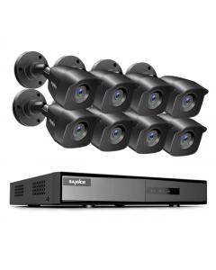 Avancerat Övervakningssystem 1080p, 8 Kameror, DVR, 2TB, EXIR Mörkerseende, IP66