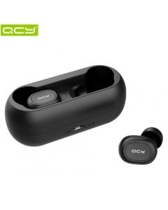 QCY qs1 TWS 5.0 Bluetooth hörlurar, 3D stereo, Trådlös, Dual mic