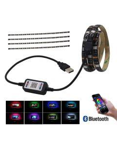 True RGB LED-list, 16,8 miljoner färger, vattentät, bluetooth, ljudaktivering - 1 meter