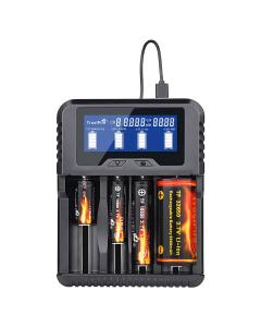 Laddningsstation för Uppladdningsbara Batterier TrustFire TR-020, Snabbladdning, USB
