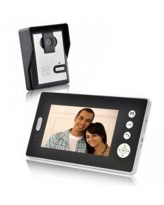 Trådlös porttelefon med videoöverföring till trådlös 7-tums mottagare