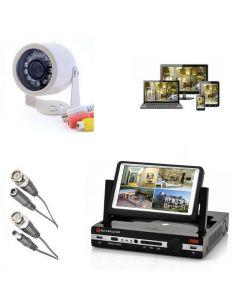 Enkelt övervakningspaket, 1st övervakningskamera, DVR & bildskärm