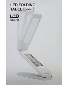 Ihopfällbar LED-bordslampa med display, tid, datum och temperatur - Fyndvara