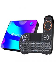 Android TV Box 4K X88 PRO, Android 10, 128GB, WiFi 2,4&5,8G, Två Fjärrkontroller, Bluetooth